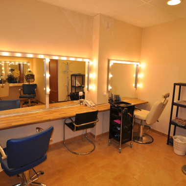Make-up and wardrobe rooms